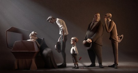 funeral-3d-cartoon-illustration