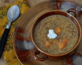 Sweet Potato Soup with Quinoa & Coconut Milk by A Veggie Venture 2010-400
